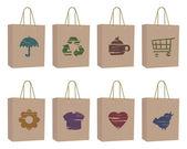 сумки с иконами — Cтоковый вектор