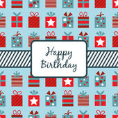 Birthday gifts wrapping — Stockvector