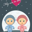 Royalty-Free Stock Vector Image: Space love