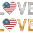 Love the USA — Stock Vector