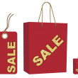 Royalty-Free Stock Vector Image: Sale bag and tag set