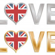 Stock Vector: Love great britain
