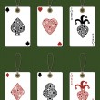 Playing card tags - Stock Vector