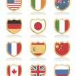 Flag shields — Vector de stock