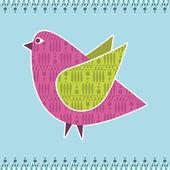 Kuş dekorasyon — Stok Vektör