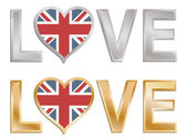 Love great britain — Stock Vector