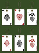 Playing card tags — Stock Vector