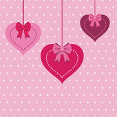 Decoraciones de corazón — Vector de stock