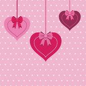 Hjärta dekorationer — Stockvektor
