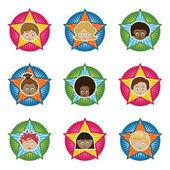 Kids badges — Stock Vector