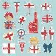Stock Vector: England supporter stickers