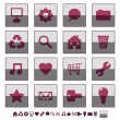 Royalty-Free Stock Vektorgrafik: Square icons set 1