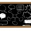 Stock Vector: Black board
