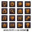 Black and gold icons set 1 — Stock Vector