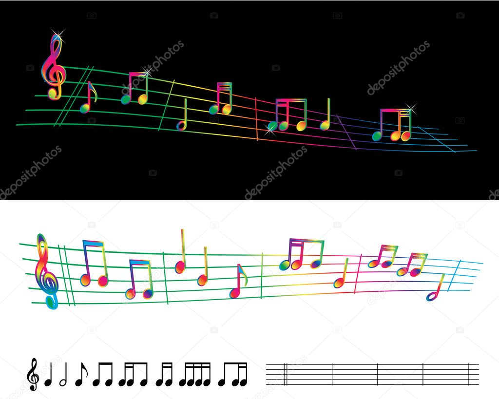Fiery Treble Clef In Rainbow Flames: The Gallery For --> Individual Musical Notes Symbols