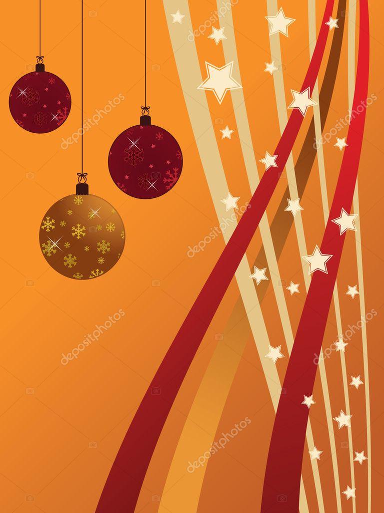 红色和橙色渐变圣诞节背景装饰 — 矢量图片作者 mattasbestos
