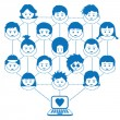 Networking kids — Vector de stock #2262012