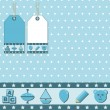 Royalty-Free Stock Vector Image: Blue gift wrapping
