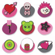 Kids emo icons — Stockvektor #2262075