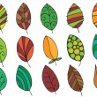 Hand drawn leaves — Image vectorielle