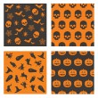Halloween patterns — Stockvectorbeeld