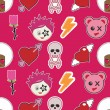 Seamless emo pattern — Stock vektor