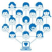 Networking kids — Stock Vector