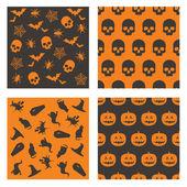 Halloween vzory — Stock vektor