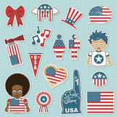 Usa supporter stickers — Stock Vector