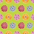Flower pattern background — 图库矢量图片