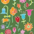 Hand drawn floral elements — Stock Vector