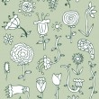 Hand drawn floral elements, set 2 — Vector de stock