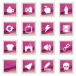 Pink stamp icons — Stock Vector