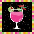 Stock Vector: Pink cocktail number 2