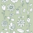 Hand drawn floral elements, set 1 — Stock Vector