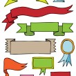 Hand drawn scroll banners - Stock Vector