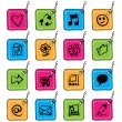 Square tag icons - Stock Vector