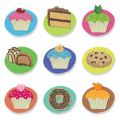 Cake icons — Stockvektor