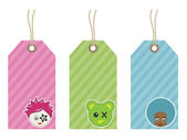 Kids tags — Stock Vector