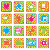Bright icons, set 2 — Stock Vector