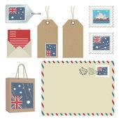 Australia postage — Stock Vector