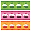 Cake banners - Stock Vector