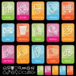 Royalty-Free Stock Vector Image: Tab icons on black, set 1