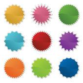 Bright retro stickers — Stock Vector