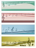 Musical banners — Stock Vector