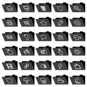 Application folder icons — Stock Vector