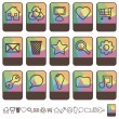 Stock Vector: Tab icons set1