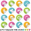 Royalty-Free Stock Vector Image: Sticker set 2