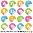 Sticker set 1 - Stock Vector