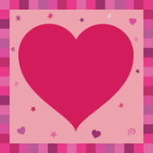 Pink heart greeting card — Stock Vector